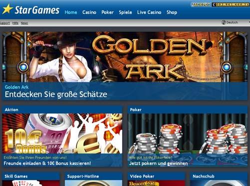 Stargames Casino Webseite